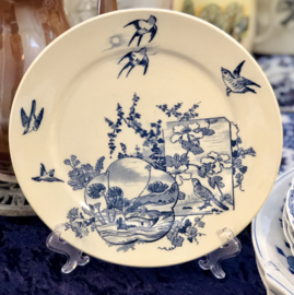 Dinerbord – B.F.K. – decor Japon donkerblauw