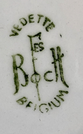 Diep bord / soepbord - Boch F'es (Boch Frères) - model VEDETTE - décor ORCHIDEE