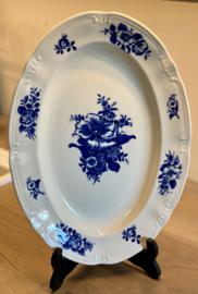 Schaal - ovaal - Boch - décor RHODIA blauw - vorm CAPRI (1950-1955)