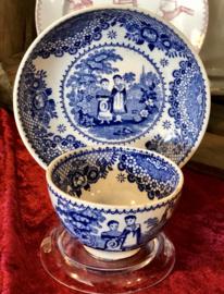 Kommetje en schoteltje – Cappellemans  aine W. Smith Co – decor Orphans blauw