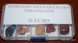 verzameldoos met  10 steentjes