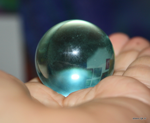 Blauwe andara glas bol