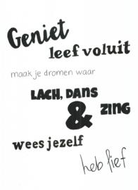 Handmade by Janine - Poster - Leef voluit