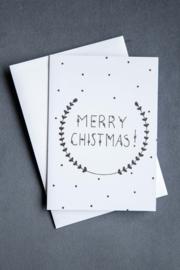 Handmade by Janine - Kerstkaartset -  Merry Christmas!