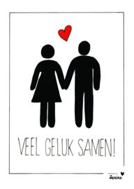 Handmade by Janine - Poster - Veel geluk samen