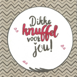 Handmade by Janine - Kaart - Dikke knuffel voor jou
