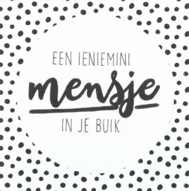 Handmade by Janine - Kaart - Mini mensje