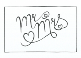 Handmade by Janine - Kaart - Mr & Mrs.