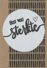 Handmade by Janine - Kaart - Heel veel sterkte