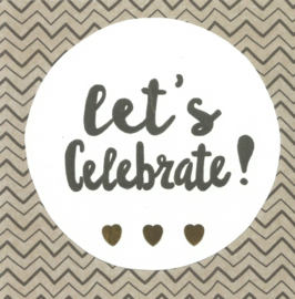 Handmade by Janine - Kaart - Let's Celebrate