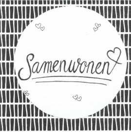 Handmade by Janine - Kaart - Samenwonen