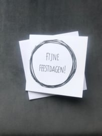 Handmade by Janine - Kerstkaartset -  Fijne Feestdagen!