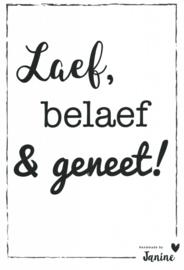 Handmade by Janine - Poster - Laef, Belaef & Geneet!