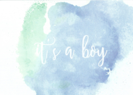 Handmade by Janine - Kaart - It's a boy