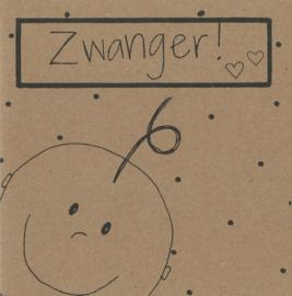 Handmade by Janine - Kaart - Zwanger baby kraft