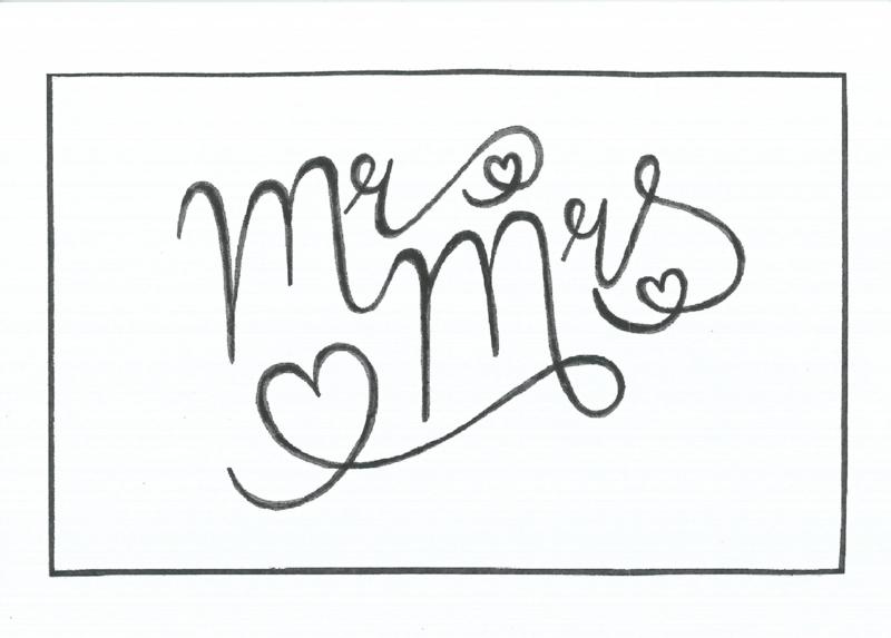 Kaart - Mr & Mrs.