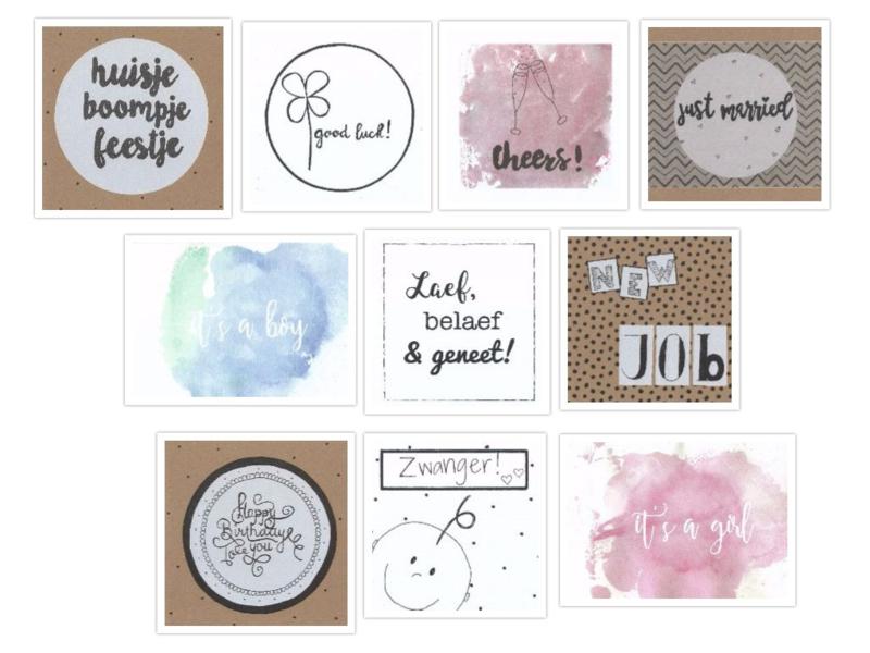 Handmade by Janine - Kaart - Set 2