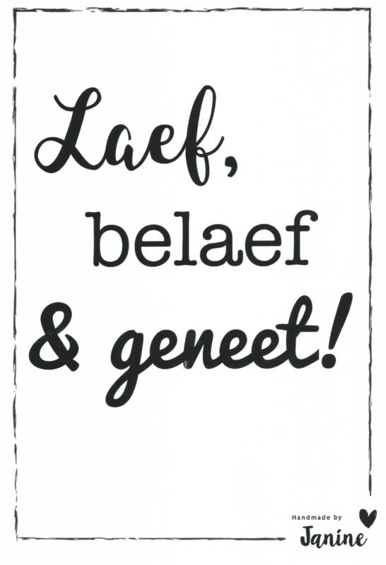 Poster - Laef, belaef & geneet!