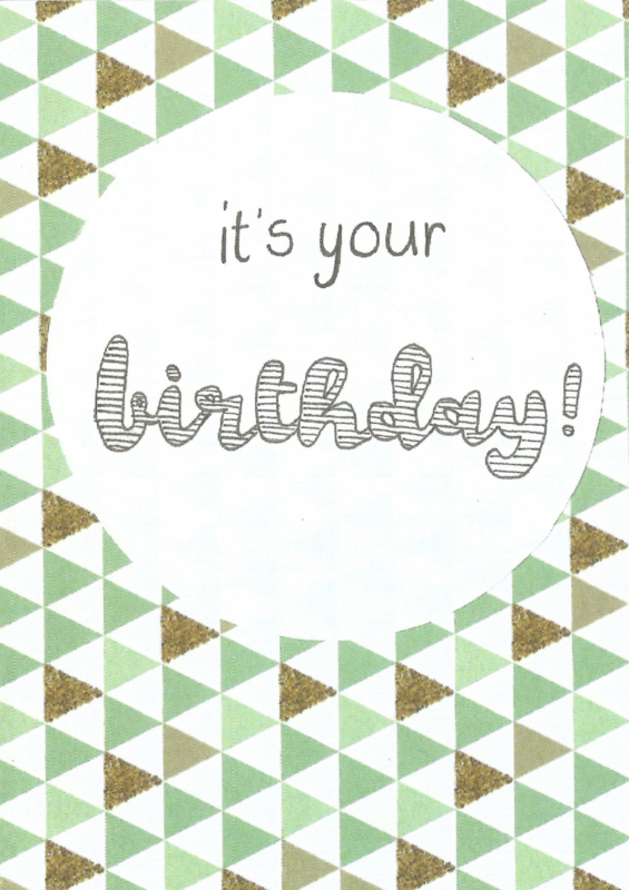 Kaart - Birthday triangle