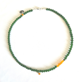 Ketting Sunny Dreams, jade en agaat