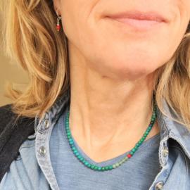 Ketting Green Wishes, aventurijn, koraal, jaspis