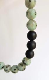 Ketting Landscape, kiwi jaspis