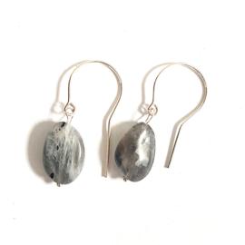 Oorbellen Grey Rocks, labradoriet
