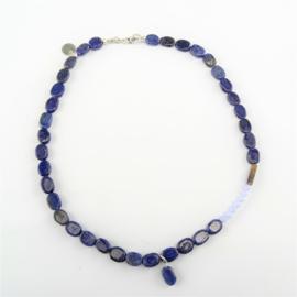 Ketting Lapis Spirit, lapis lazuli, chalcedoon, tijgeroog