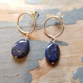 Delen Opslaan Oorbellen Night Sky, met lapis lazuli
