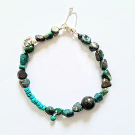Unisex armband Ocean, apatiet en turquoise magnesiet