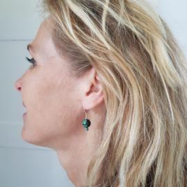Oorbellen Autumn, afrikaans turquoise en magnesiet