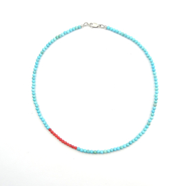 Ketting Wide Awake no.1, magnesiet en koraal