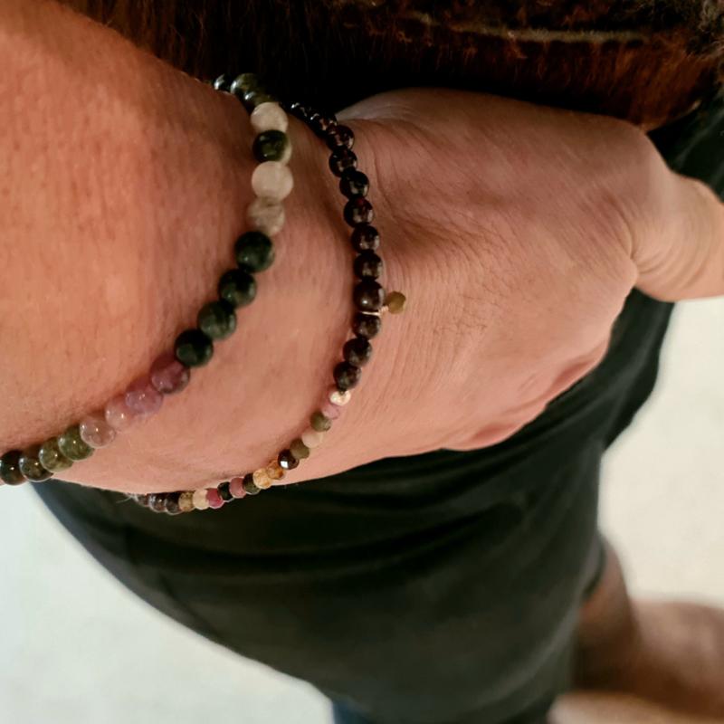 Jacky armband Zelfvertrouwen & Succes, granaat en toermalijn