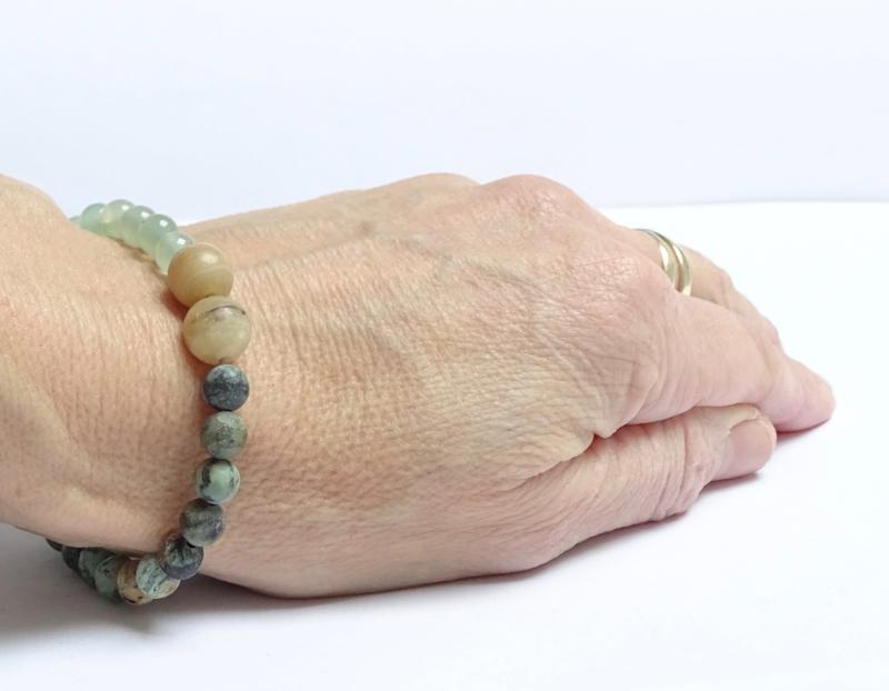 Armband Happy Greens, aventurijn, afrikaans turquoise
