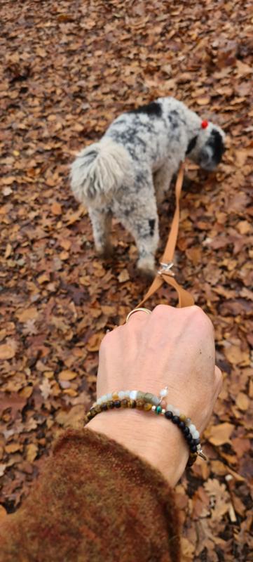Armband Aleste, malachiet, onyx en tijgeroog
