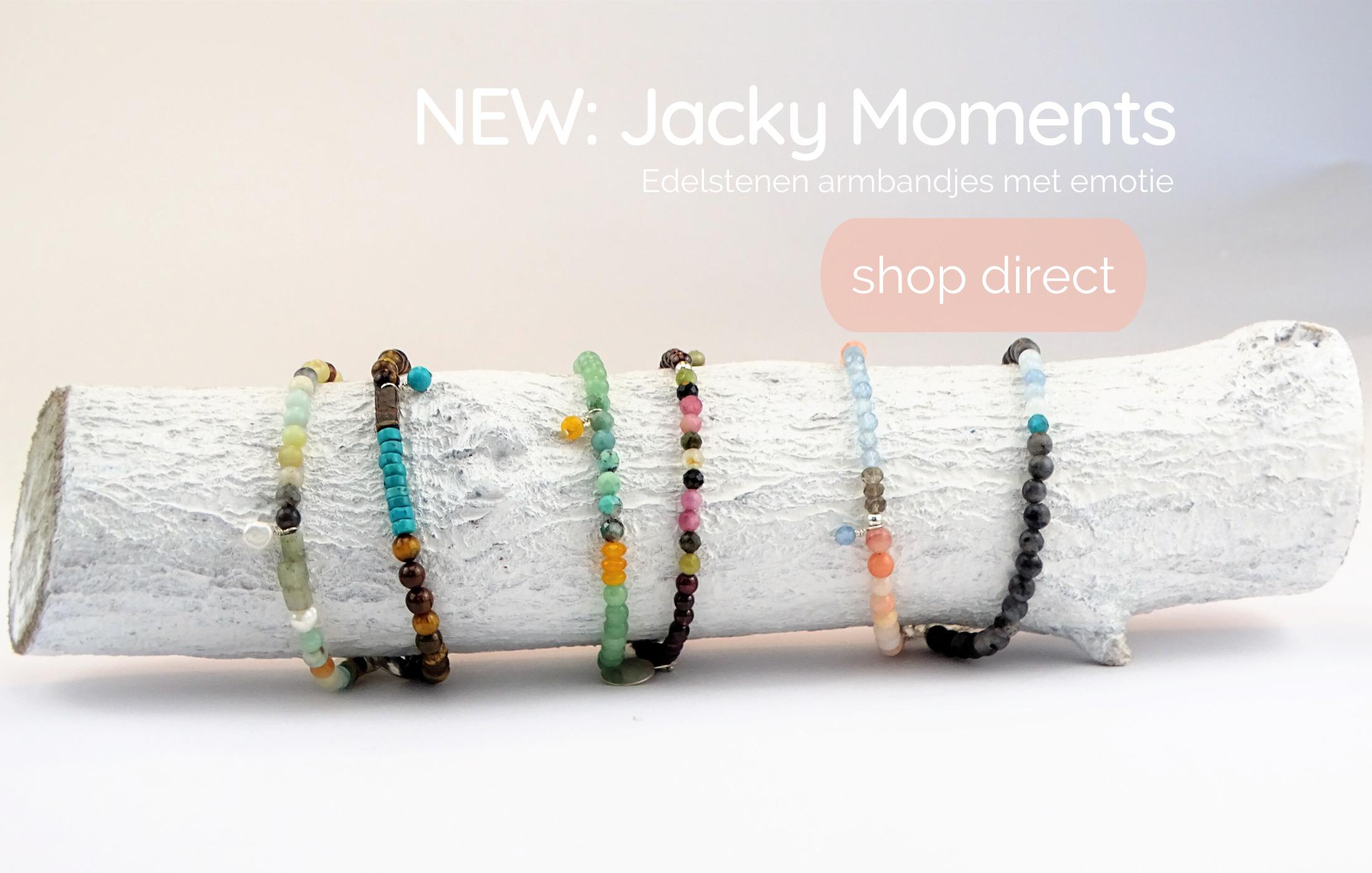 Jacky Moments, edelstenen armbandjes met emotie