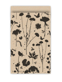 Cadeauzakjes voorjaar bloemen Kraft zwart