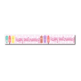 Washi tape happy postcrossing