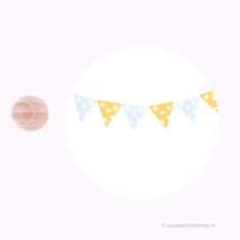 Mini Stempel M | Vlaggetje met sterretjes