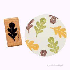 Stempel hout | Eiken blaadje