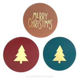 Sluitstickers kerst set