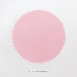 Sluitsticker rond roze