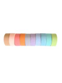 Washi tape egaal pastel 5 meter