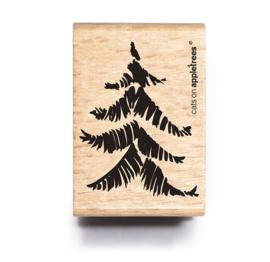 Stempel dennenboom klein