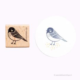 Stempel koolmees vogel