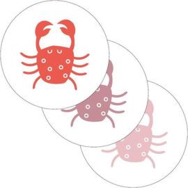 Sluitsticker set krabbetjes  (3stuks)