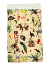 Cadeauzakje jungle dieren 12 x 19