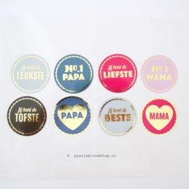 Sluitstickers papa/ mama SET