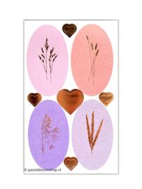 Wilde plukbloemen stickers paars