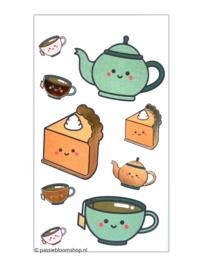 High tea stickers